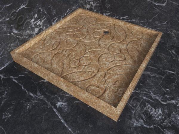 Поддон для душа Джина мраморный, каталог душевых поддонов из камня, изображение, фото 2