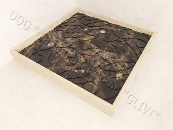 Поддон для душа Джина мраморный, каталог душевых поддонов из камня, изображение, фото 5