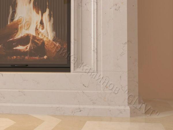 Мраморный каминный портал (облицовка) в восточном (арабском) стиле Кадрия, каталог (интернет-магазин) каминов из мрамора, изображение, фото 2