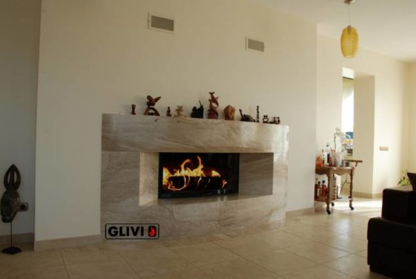 Мраморный каминный портал (облицовка) Калипсо, каталог (интернет-магазин) каминов из мрамора, изображение, фото 1