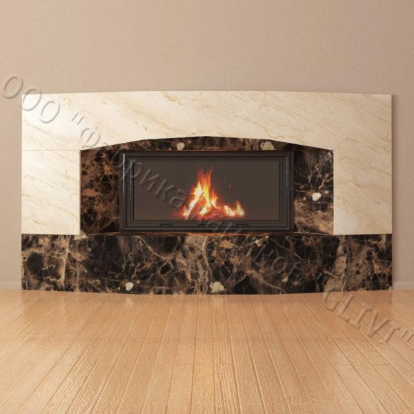 Мраморный каминный портал (облицовка) Калипсо, каталог (интернет-магазин) каминов из мрамора, изображение, фото 3