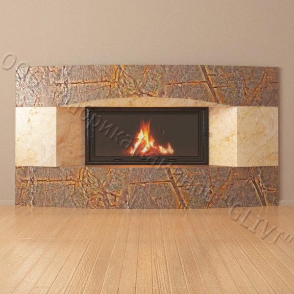 Мраморный каминный портал (облицовка) Калипсо, каталог (интернет-магазин) каминов из мрамора, изображение, фото 4