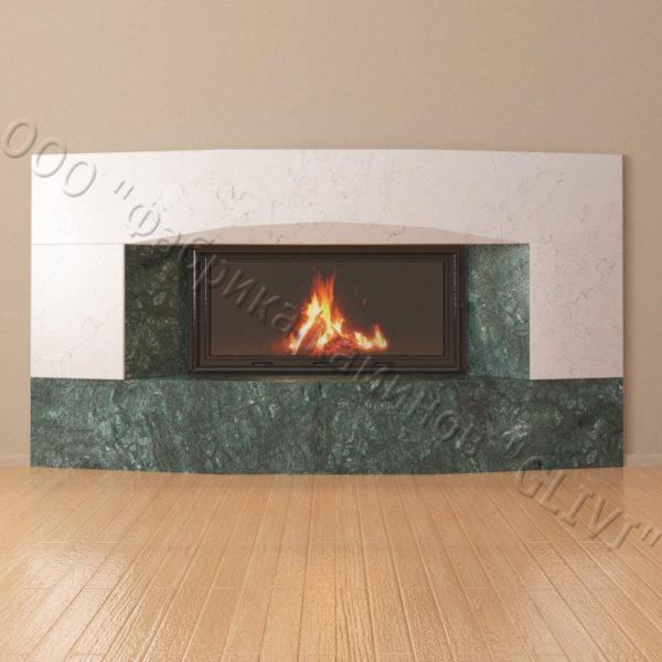 Мраморный каминный портал (облицовка) Калипсо, каталог (интернет-магазин) каминов из мрамора, изображение, фото 6