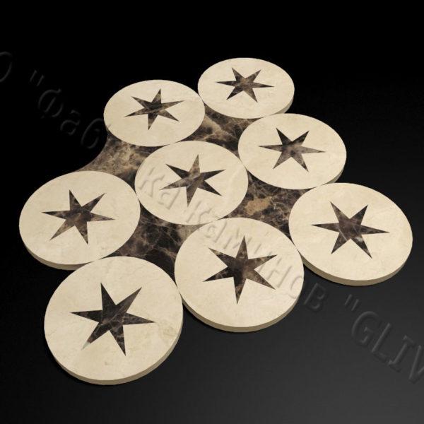 Плитка из натурального мрамора Ками, изображение, фото 3