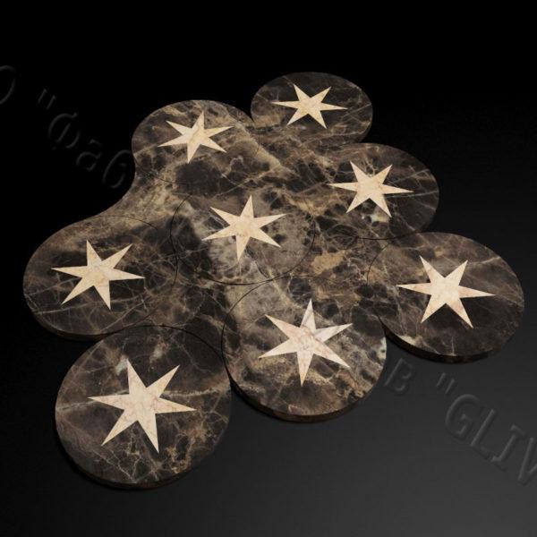 Плитка из натурального мрамора Ками, изображение, фото 2