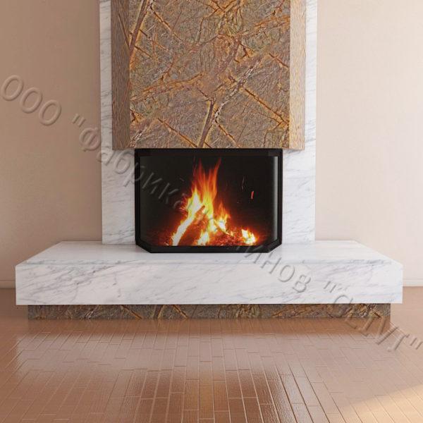 Мраморный каминный портал (облицовка) Канон, каталог (интернет-магазин) каминов из мрамора, изображение, фото 4