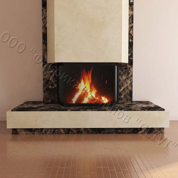 Мраморный каминный портал (облицовка) Канон, каталог (интернет-магазин) каминов из мрамора, изображение, фото 5
