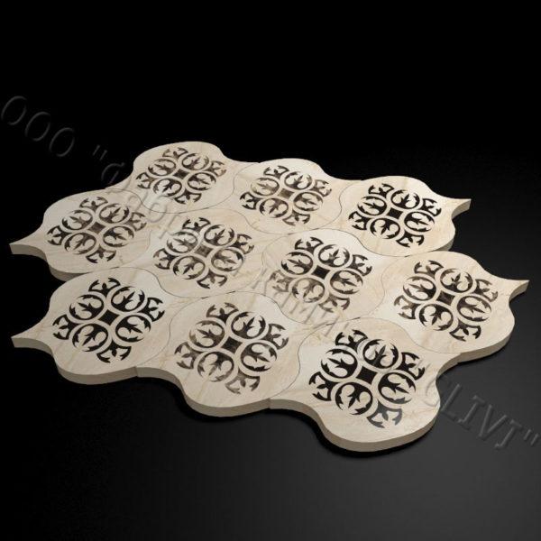 Плитка из натурального мрамора Карат, изображение, фото 1