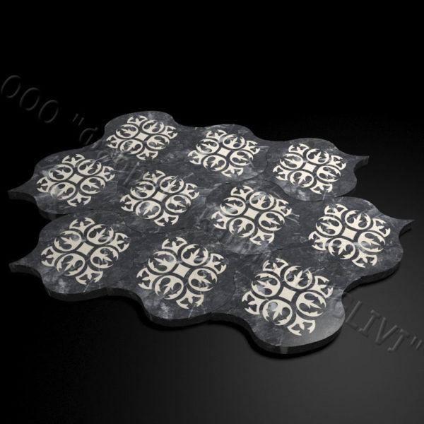Плитка из натурального мрамора Карат, изображение, фото 2