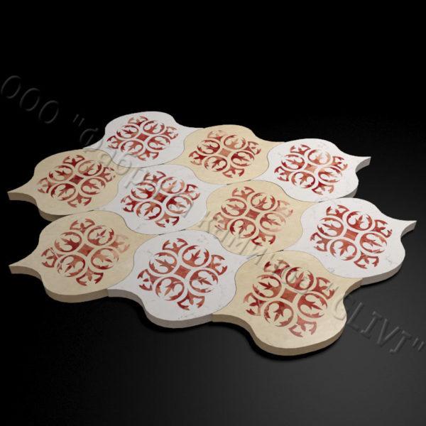 Плитка из натурального мрамора Карат, изображение, фото 3