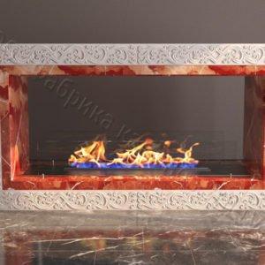 Напольный каминный портал (облицовка) для биокамина Карлия, каталог (интернет-магазин) каминов, изображение, фото 1