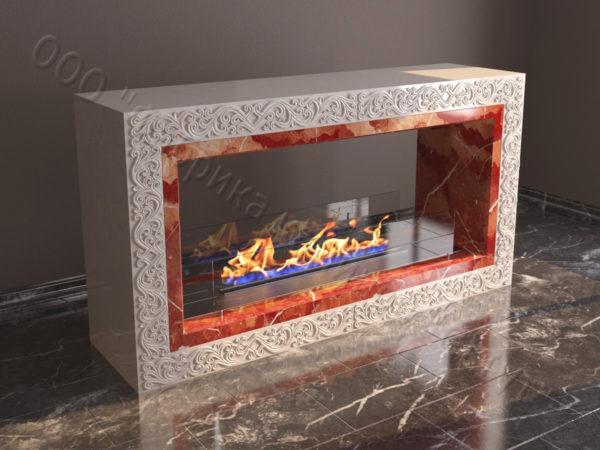 Напольный каминный портал (облицовка) для биокамина Карлия, каталог (интернет-магазин) каминов, изображение, фото 2