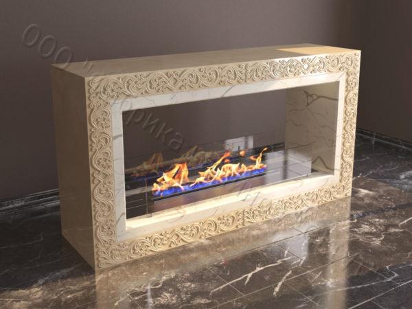 Напольный каминный портал (облицовка) для биокамина Карлия, каталог (интернет-магазин) каминов, изображение, фото 4