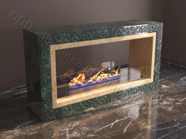Напольный каминный портал (облицовка) для биокамина Карлия, каталог (интернет-магазин) каминов, изображение, фото 5