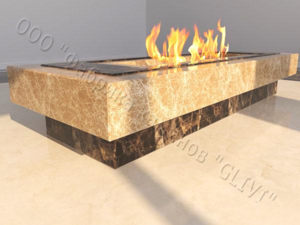 Напольный каминный портал (облицовка) для биокамина Кейла, каталог (интернет-магазин) каминов, изображение, фото 2