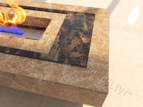 Напольный каминный портал (облицовка) для биокамина Кейла, каталог (интернет-магазин) каминов, изображение, фото 3