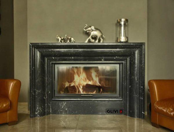 Мраморный каминный портал (облицовка) Кларенс, каталог (интернет-магазин) каминов из мрамора, изображение, фото 1