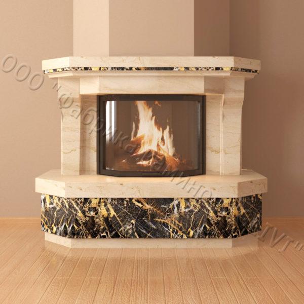Мраморный каминный портал (облицовка) Клеопатра, каталог (интернет-магазин) каминов из мрамора, изображение, фото 2