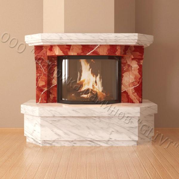 Мраморный каминный портал (облицовка) Клеопатра, каталог (интернет-магазин) каминов из мрамора, изображение, фото 5