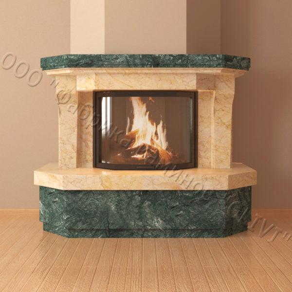 Мраморный каминный портал (облицовка) Клеопатра, каталог (интернет-магазин) каминов из мрамора, изображение, фото 6