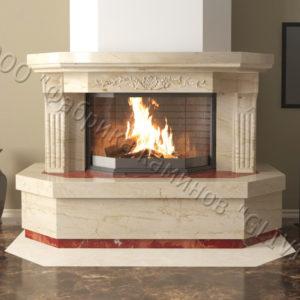 Мраморный каминный портал (облицовка) Клеопатра, каталог (интернет-магазин) каминов из мрамора, изображение, фото 8