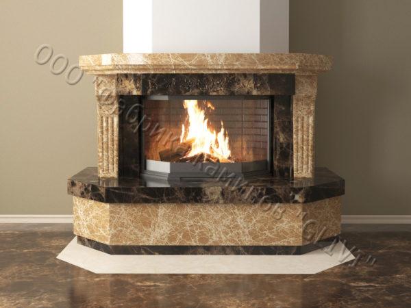 Мраморный каминный портал (облицовка) Клеопатра, каталог (интернет-магазин) каминов из мрамора, изображение, фото 10