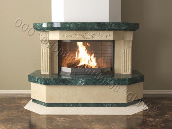 Мраморный каминный портал (облицовка) Клеопатра, каталог (интернет-магазин) каминов из мрамора, изображение, фото 11