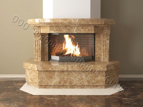 Мраморный каминный портал (облицовка) Клеопатра, каталог (интернет-магазин) каминов из мрамора, изображение, фото 12