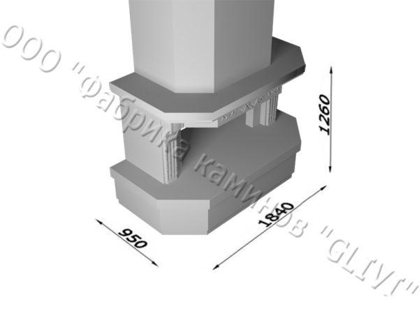 Мраморный каминный портал (облицовка) Клеопатра, каталог (интернет-магазин) каминов из мрамора, изображение, фото 13