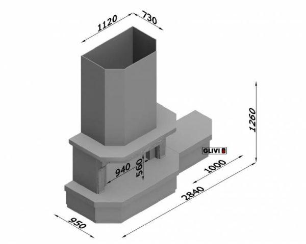 Мраморный каминный портал (облицовка) Клеопатра Р с банкеткой, каталог (интернет-магазин) каминов из мрамора, изображение, фото 7