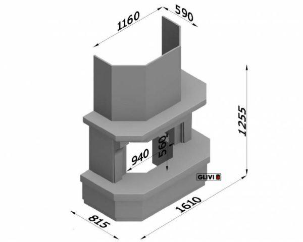 Мраморный каминный портал (облицовка) Клеопатра, каталог (интернет-магазин) каминов из мрамора, изображение, фото 7