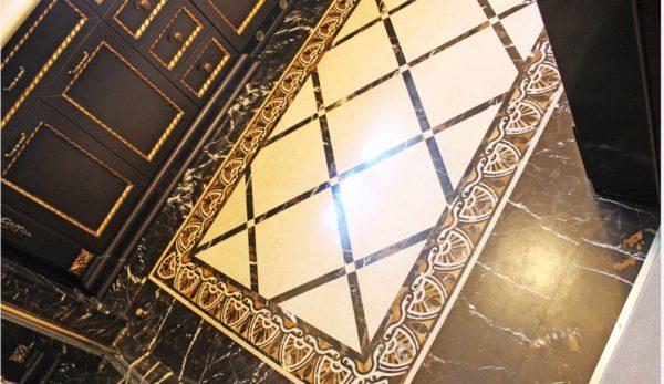 Мозаичный пол из натурального мрамора Климена, интернет-магазин полов, изображение, фото 3