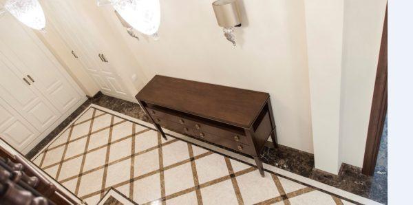 Мозаичный пол из натурального мрамора Клития, интернет-магазин полов, изображение, фото 2