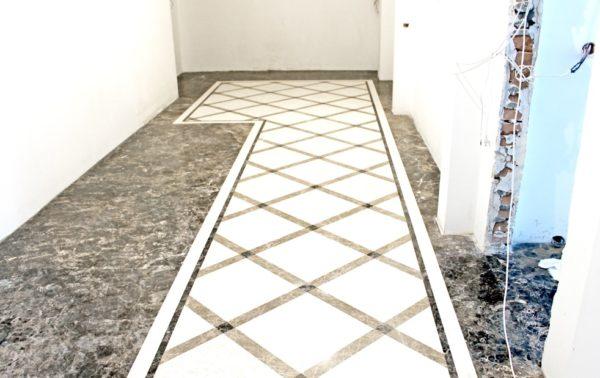 Мозаичный пол из натурального мрамора Клития, интернет-магазин полов, изображение, фото 5