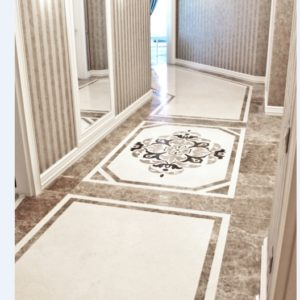 Мозаичный пол из натурального мрамора Клония, интернет-магазин полов, изображение, фото 1