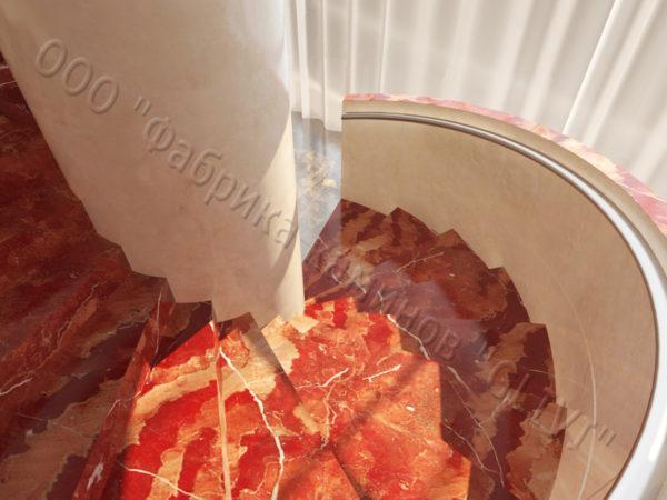 Лестница из натурального мрамора Клориум, интернет-магазин лестниц, изображение, фото 2