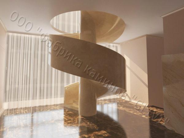 Лестница из натурального мрамора Клориум, интернет-магазин лестниц, изображение, фото 3