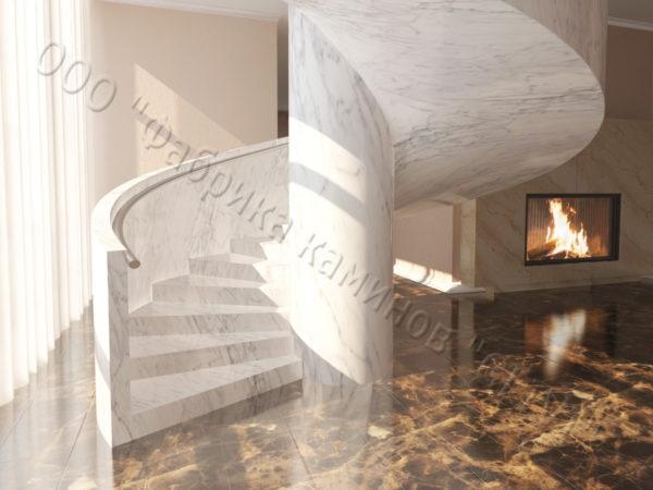 Лестница из натурального мрамора Клориум, интернет-магазин лестниц, изображение, фото 4