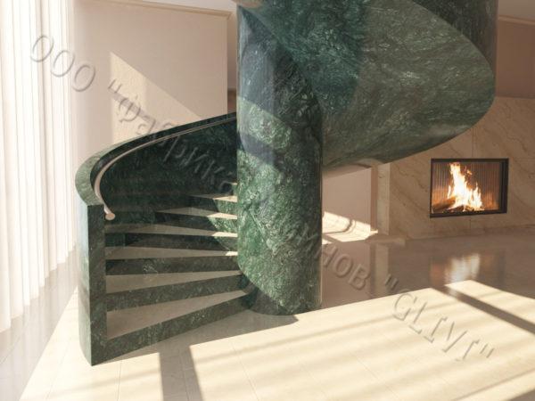 Лестница из натурального мрамора Клориум, интернет-магазин лестниц, изображение, фото 8