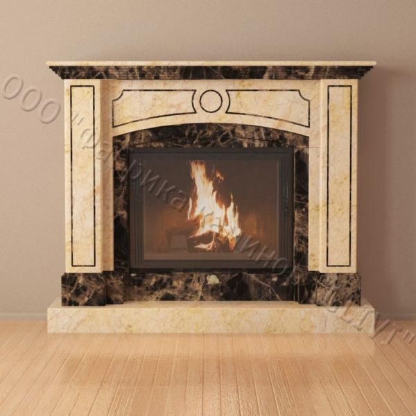 Мраморный каминный портал (облицовка) Корсар, каталог (интернет-магазин) каминов из мрамора, изображение, фото 3