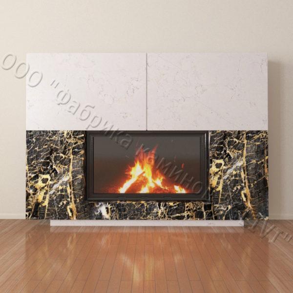 Мраморный каминный портал (облицовка) Коур, каталог (интернет-магазин) каминов из мрамора, изображение, фото 2