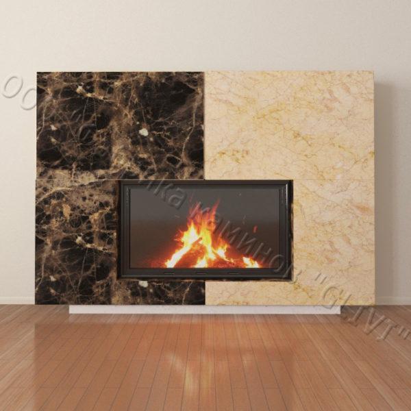 Мраморный каминный портал (облицовка) Коур, каталог (интернет-магазин) каминов из мрамора, изображение, фото 3