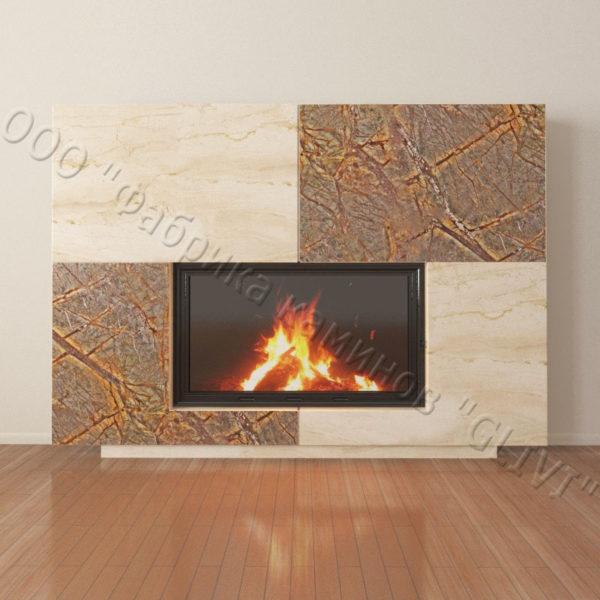 Мраморный каминный портал (облицовка) Коур, каталог (интернет-магазин) каминов из мрамора, изображение, фото 4