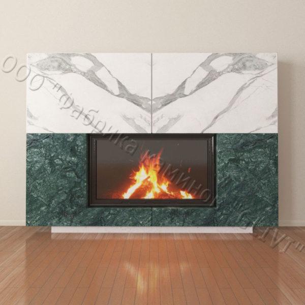 Мраморный каминный портал (облицовка) Коур, каталог (интернет-магазин) каминов из мрамора, изображение, фото 6