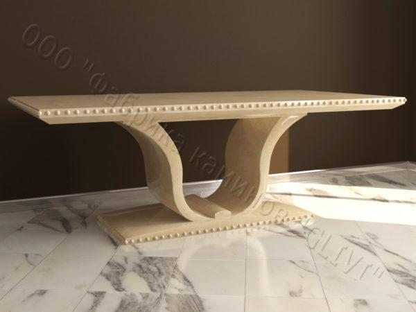 Стол из натурального камня (мрамора) Крыл, интернет-магазин столов, изображение, фото 2