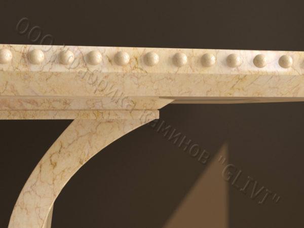 Стол из натурального камня (мрамора) Крыл, интернет-магазин столов, изображение, фото 6