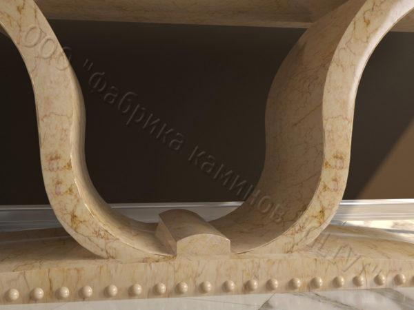 Стол из натурального камня (мрамора) Крыл, интернет-магазин столов, изображение, фото 7