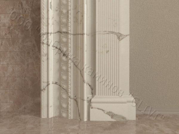 Имитация камина (фальш камин) из камня Ланда, каталог каминов, изображение, фото 5