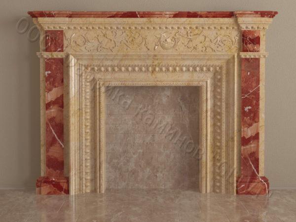 Имитация камина (фальш камин) из камня Ланда, каталог каминов, изображение, фото 8