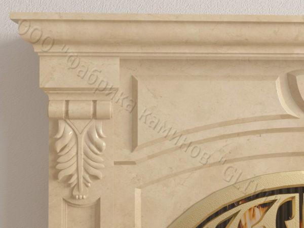 Мраморный камин с открытой топкой Ланже, каталог (интернет-магазин) каминов из мрамора, изображение, фото 3